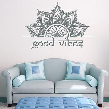 Decal House Mandala Wall Decal; Gray