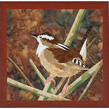Bloomsbury Market 'Marsh Wren' Print; Red Mahogany Wood Medium Framed Paper