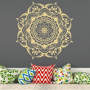 Decal House Mandala Mehndi Decor Wall Decal; Cream
