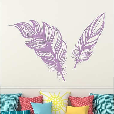 Decal House Feathers Plume Wall Decal; Lilac