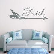Decal House Arrow Faith Wall Decal; Silver Metallic