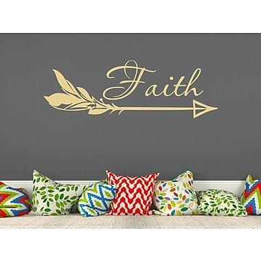 Decal House Arrow Faith Wall Decal; Cream