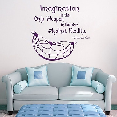 Decal House Cheshire Cat Quote Wall Decal; Violet