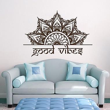 Decal House Mandala Wall Decal; Brown