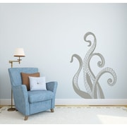 Decal House Octopus Wall Decal; Silver Metallic