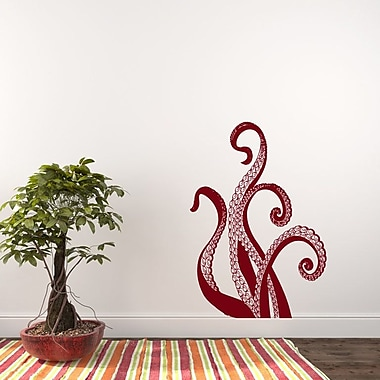 Decal House Octopus Wall Decal; Burgundy