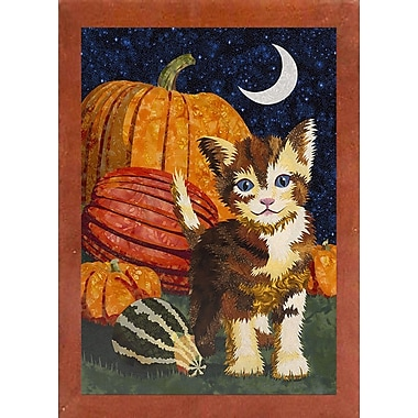 The Holiday Aisle 'Calico Kitten & Pumpkins' Graphic Art Print