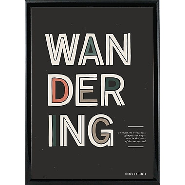 Varick Gallery 'The Unexpected' Graphic Art Print; Shiny Black Metal Framed Paper
