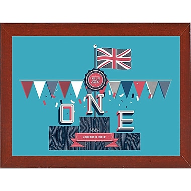 East Urban Home 'The One' Graphic Art Print; Affordable Red Mahogany Medium Framed Paper