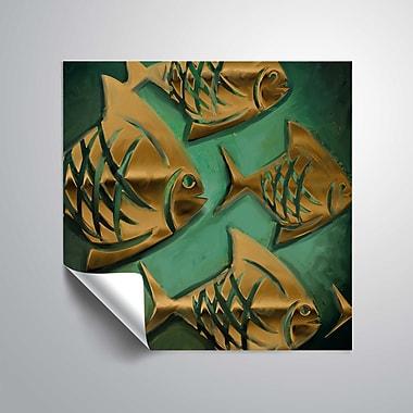 ArtWall Abstract Fish IV Wall Mural; 18'' H x 18'' W