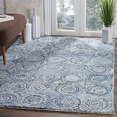 World Menagerie Philip Hand Tufted Cotton Blue Area Rug; Runner 2'3'' x 8'