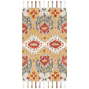 Bungalow Rose Niederanven Hand Tufted Wool Gray Area Rug; 3' x 5'