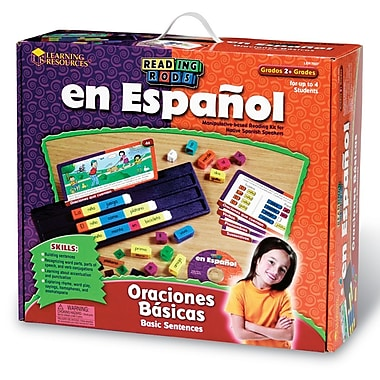 Learning Resources Oraciones Basicas Basic Sentences Reading Rods® Kit (LER7037)