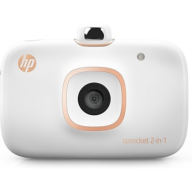 HP® - Imprimante photo Sprocket 2-en-1, blanc (2FB96A)