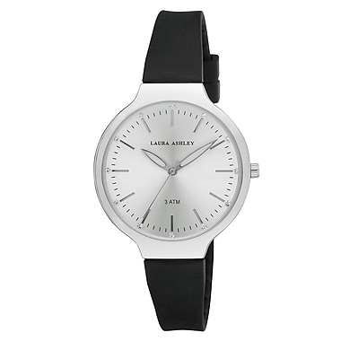 Laura Ashley Ladies Water Resistant Sunray Dial Soft Silicone Band Watch