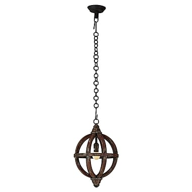 Bramble Co Infinity 1-Light Foyer Pendant; 16.5'' H x 11.8'' W x 11.8'' D