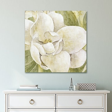 Bay Isle Home 'Magnolia Dolce' Acrylic Painting Print on Gallery Wrapped Canvas; 24'' H x 24'' W
