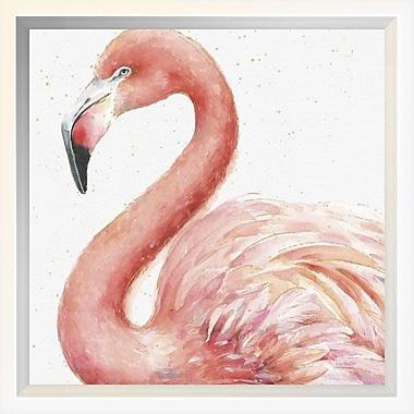 East Urban Home 'Gracefully Pink III' Framed Print; 10'' H x 10'' W