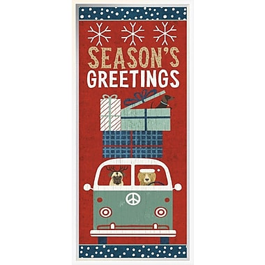 East Urban Home 'Holiday on Wheels XII Panel' Framed Graphic Art Print; 30'' H x 30'' W