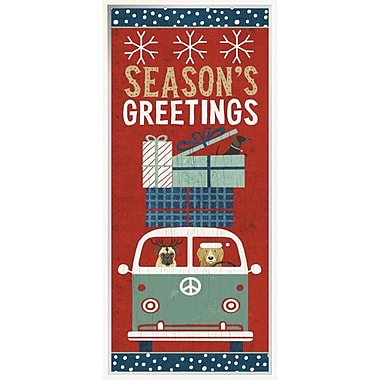 East Urban Home 'Holiday on Wheels XII Panel' Framed Graphic Art Print; 36'' H x 36'' W
