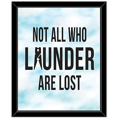 East Urban Home 'Launder 3' Framed Textual Art on Canvas