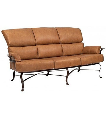 Woodard Atlas Sofa w/ Cushions; Canvas Bird's Eye