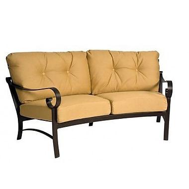 Woodard Belden Crescent Sofa w/ Cushions; Canvas Iris