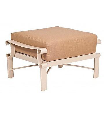 Woodard Bungalow Ottoman w/ Cushion; Bevel Indigo