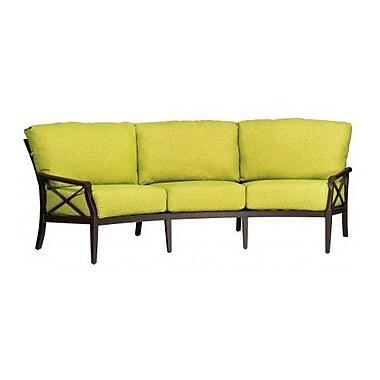 Woodard Andover Crescent Sofa w/ Cushions; Canvas Bird's Eye