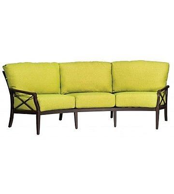 Woodard Andover Crescent Sofa w/ Cushions; Bazaar Caf