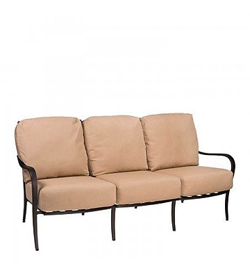 Woodard Apollo Sofa w/ Cushions; Canvas Bird's Eye