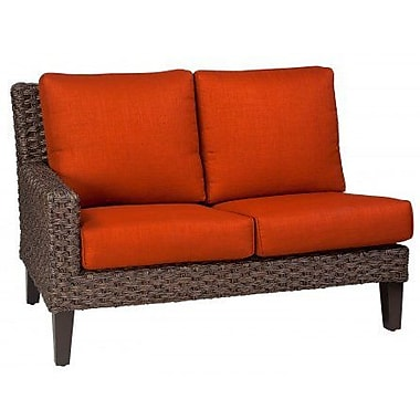 Woodard Mona Left Arm Facing Loveseat Sectional Piece w/ Cushions; Bazaar Caf