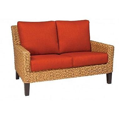 Woodard Mona Loveseat w/ Cushions; Bevel Indigo