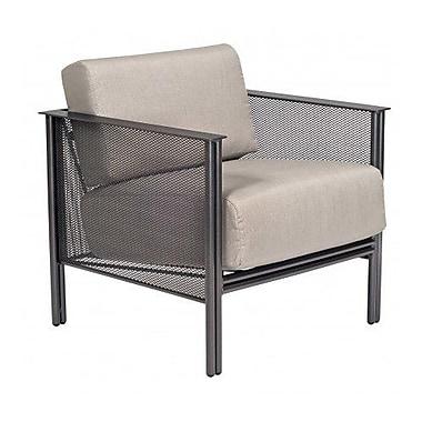 Woodard Jax Stationary Patio Chair w/ Cushions; Brisa Distressed Charcoal