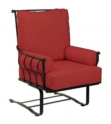 Woodard Maddox Spring Patio Chair w/ Cushions; Canvas Heather Beige