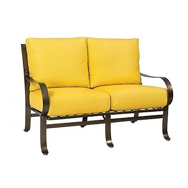 Woodard Cascade Loveseat w/ Cushions; Canvas Chestnut