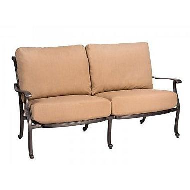 Woodard New Orleans Loveseat w/ Cushions; Brisa Distressed Charcoal