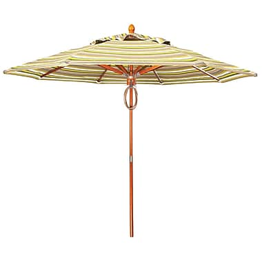 Woodard 9' Market Umbrella; Brisa Distressed Dove Gray
