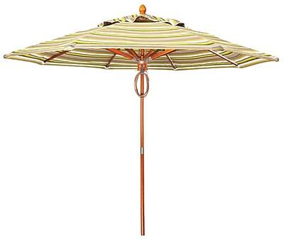 Woodard 9' Market Umbrella; Canvas Dusk