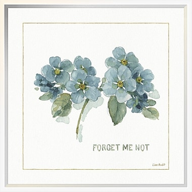East Urban Home 'My Greenhouse Forget Me Not' Framed Print; 18'' H x 18'' W