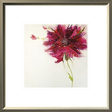 East Urban Home 'Pink Daisy on White' Framed Print; 10'' H x 10'' W