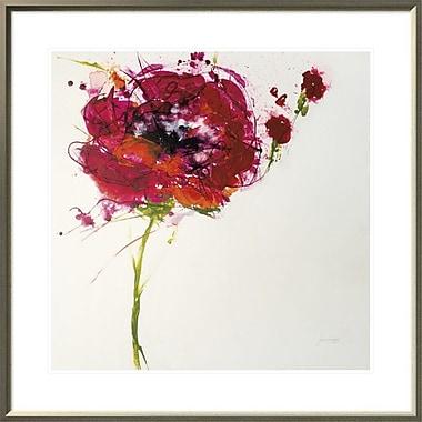 East Urban Home 'Poppy Master on White' Framed Print; 24'' H x 24'' W