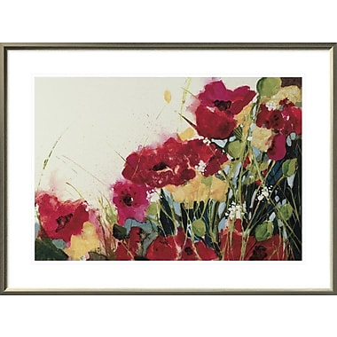 East Urban Home 'Poppies and Flowers' Framed Print; 20'' H x 30'' W