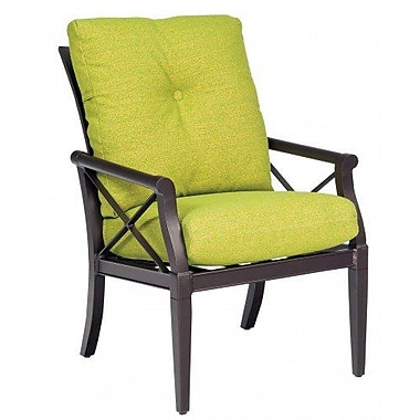 Woodard Andover Patio Dining Chair w/ Cushion; Brisa Distressed Charcoal