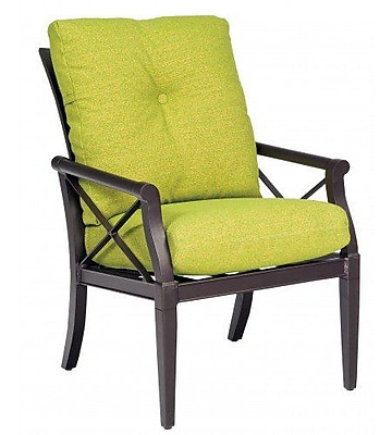 Woodard Andover Patio Dining Chair w/ Cushion; Canvas Navy
