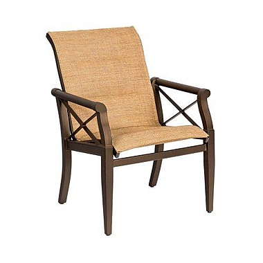 Woodard Andover Padded Sling Patio Dining Chair; Caramel
