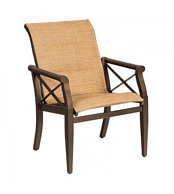 Woodard Andover Padded Sling Patio Dining Chair; Jet