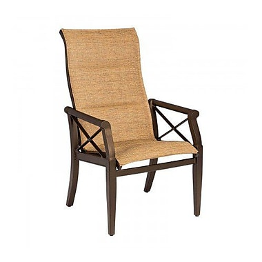 Woodard Andover Padded Sling High-Back Patio Dining Chair; Jet