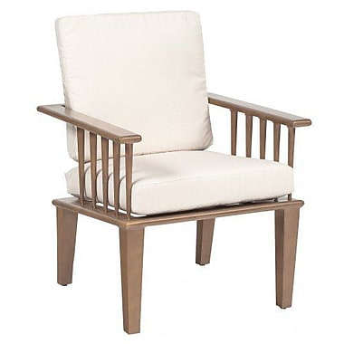 Woodard Van Dyke Patio Dining Chair w/ Cushion; Bazaar Caf