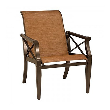 Woodard Andover Sling Patio Dining Chair; Platinum